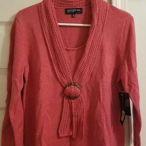 3/4 Length top with Knitted Scarf detail